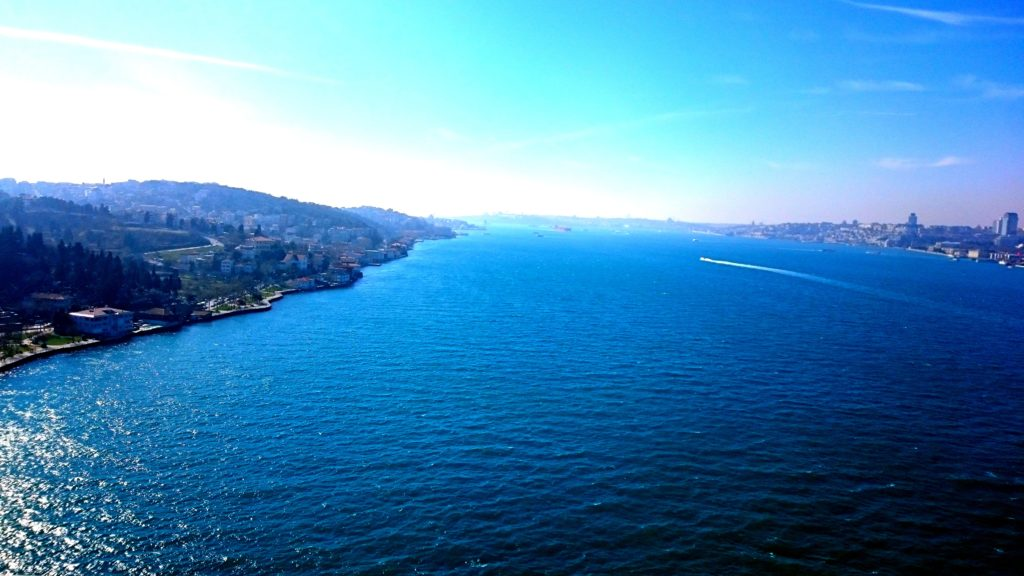 View of Istanbul from the Bosphorus Bridge